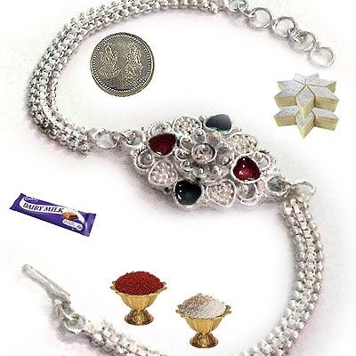 Shop Silver Rakhi online in India at lowest price and cash on delivery. Best offers on Silver Rakhi and discounts on Silver Rakhi at Rediff Shopping. Buy Silver Rakhi online  from India's leading online shopping portal - Rediff Shopping. Compare Silver #Rakhi features and specifications. Buy #Silver Rakhi online at best price.