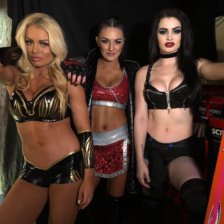 "WWE on Instagram: ""#Absolution want to finish what they started last week! #Raw @mandysacs @realpaigewwe @sonyadevillewwe"""