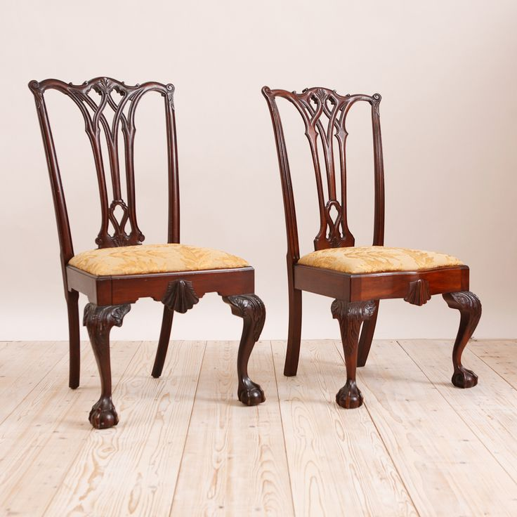 Pair of Philadelphia Chippendale Style Chairs in Mahogany, c. 1870. Antique  ChairsSide ... - 35 Best Antique Side Chairs Images On Pinterest 19th Century
