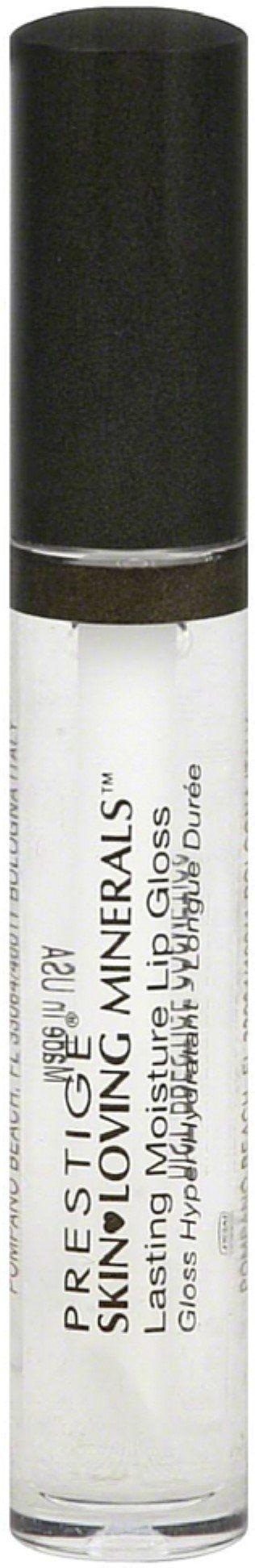 Prestige Skin Loving Minerals Lasting Moisture Lip Gloss, Crystal Clear 0.09 oz (Pack of 3). Product of Prestige. Pack of 3.