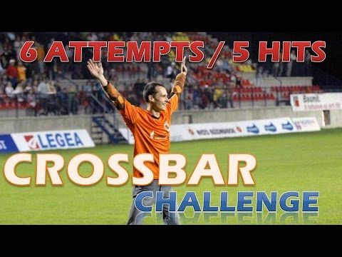 Crossbar challenge: 5 hits from 6 attempts in a row. As I had been preparing special video for 200 subscribers, I found this not published footage from sep 2015 so enjoy these nice hits.  FB: https://www.facebook.com/crossbarchallenge  TW: https://twitter.com/Crossbar10inrow PinIt: https://www.pinterest.com/crossbar10inrow Subscribe: http://www.youtube.com/c/Crossbarchallenge10inarow  Why I´m doing this: https://youtu.be/362_7xWOCfg
