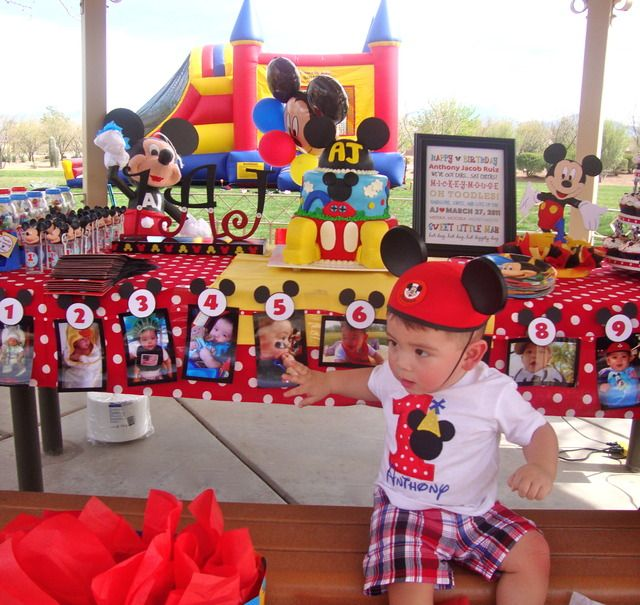 Mickey mouse party  Cake table idea