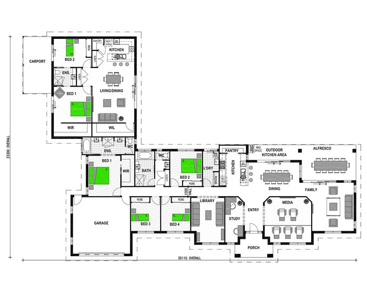 Vermilion 2 bedroom granny flat in law suite plans for Granny flats floor plans