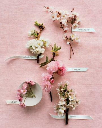 cherry blossom boutonnieres