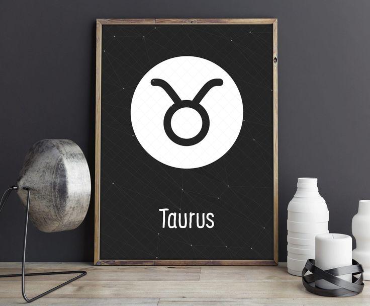 Taurus Zodiac Symbol, Zodiac Art Print