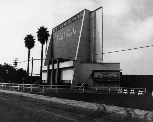 South Gate Drive-In 5131 Firestone Blvd, South Gate, California. Now closed. Via cinematrasures.org #savethedrivein