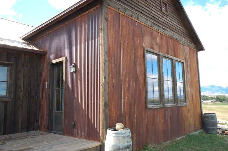 Rustic steel siding 2 1 2 corrugated in truten by for Rustic siding ideas
