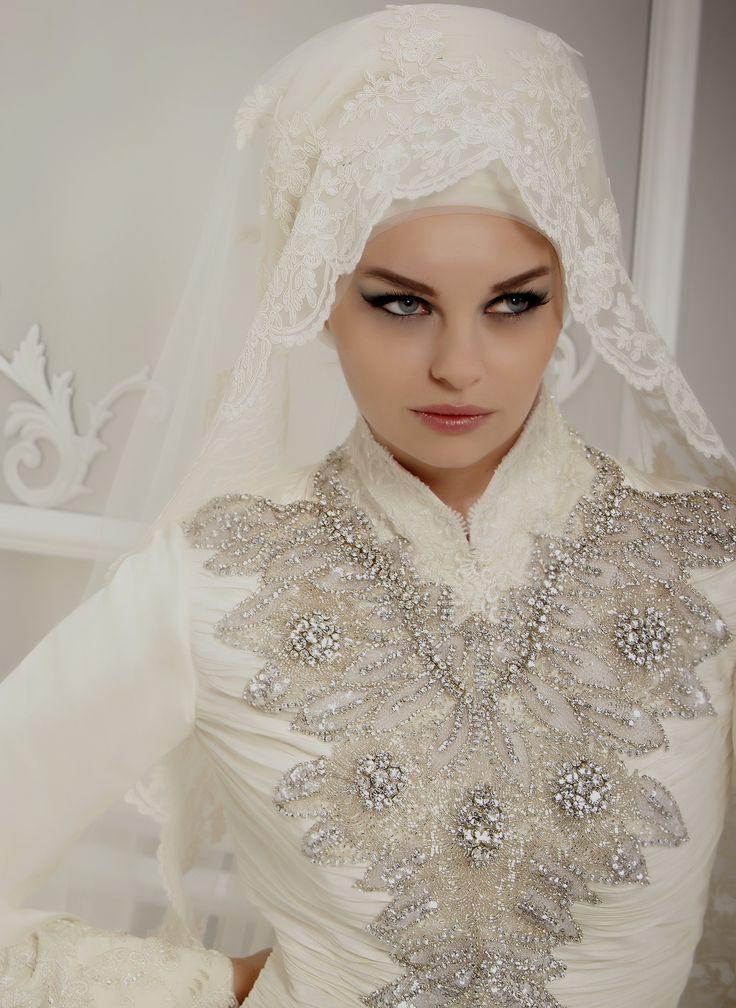 Bridal Hijab Veil Headscarf Hijabi Bride
