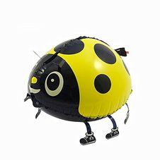 Gående Nyckelpiga Gul Heliumballong