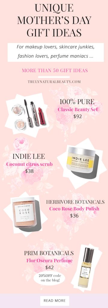 unique mother's day gift ideas 2017 natural organic beauty, healthy living, all natural ingredients, all natural beauty products, organic beauty cosmetic line, eco friendly cosmetics, 100% Pure, Herbivore Botanicals, Prim Botanicals, Mother's Day gift ideas, gifts for mom, gift ideas, natural organic gift ideas