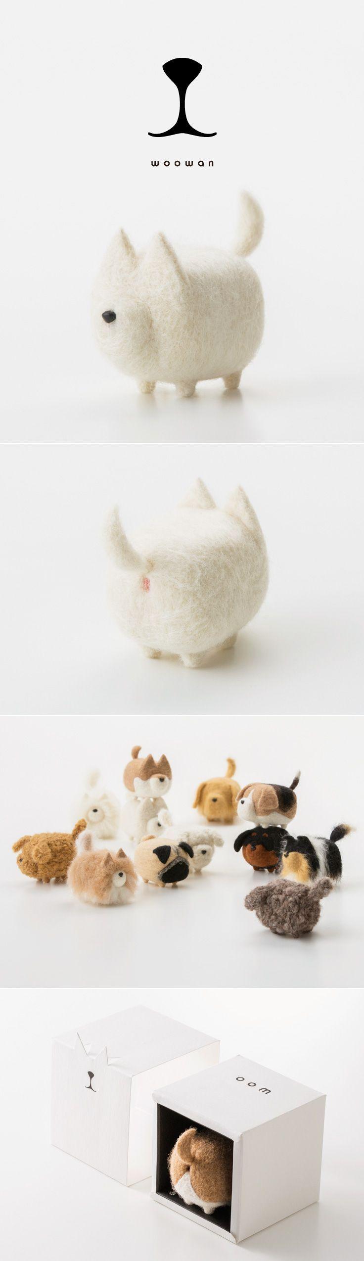 woowan/犬/dog/羊毛フェルト/Needle/Felting/mascot/doll/home/style/products/art/design