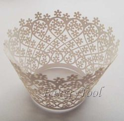 Online Shop Free Shipping 24 pcs/pack white Garden Laser Cut Lace Cupcake Wrappers Liner,cake wrapping cup, cake case,cake decoration|Aliexp...