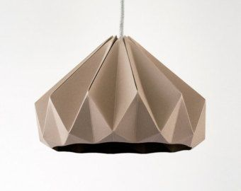 paper origami lamp Chestnut Autumn Yellow. Pendant by nellianna