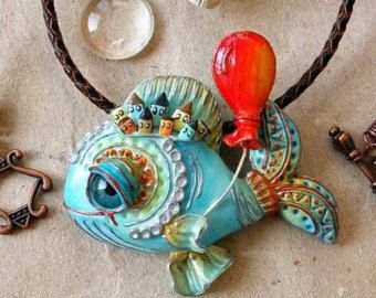 OPMERKING VOOR KLANTEN :-) Alsjeblieft, houd in gedachten dat alle items volledig zijn gebeeldhouwd en hand geschilderd. Dat is waarom duurt gemiddeld 2 weken om ze te maken. Levering duurt meestal 7 tot 21 werkdagen.  Hanger drijvende eiland. Soms diepe oceaan verbergen een heleboel geheimen en wonderen)) (Whale ketting - Whale polymeer klei hanger - Boho sieraden - Boho stijl)  VOOR INTERNATIONALE BESTELLINGEN, AANGEPASTE PLICHT EN BELASTINGEN GELDEN DEZE VALLEN ONDER UW…