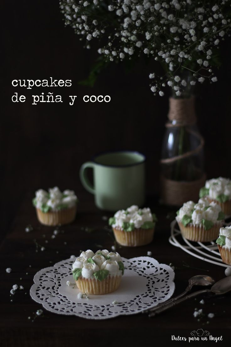Dulces para un Angel: Cupcakes de piña y coco para mamá