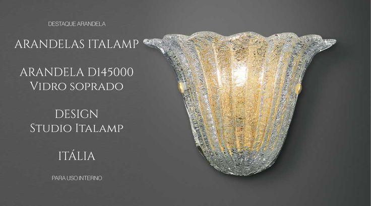 puntoluce arndela vidro siprado ouro italamp
