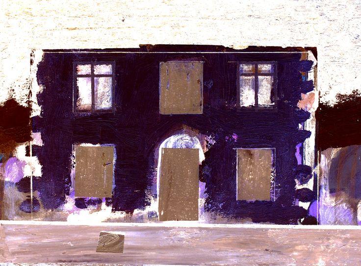 Arklow townHouse Painting/Negative; mixed media 2015; www.stephen-nolan.com