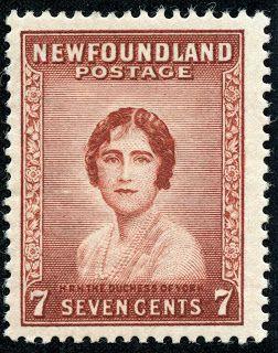 Newfoundland 1932 Scott 208 7c red brown Duchess of York (later Queen Elizabeth)