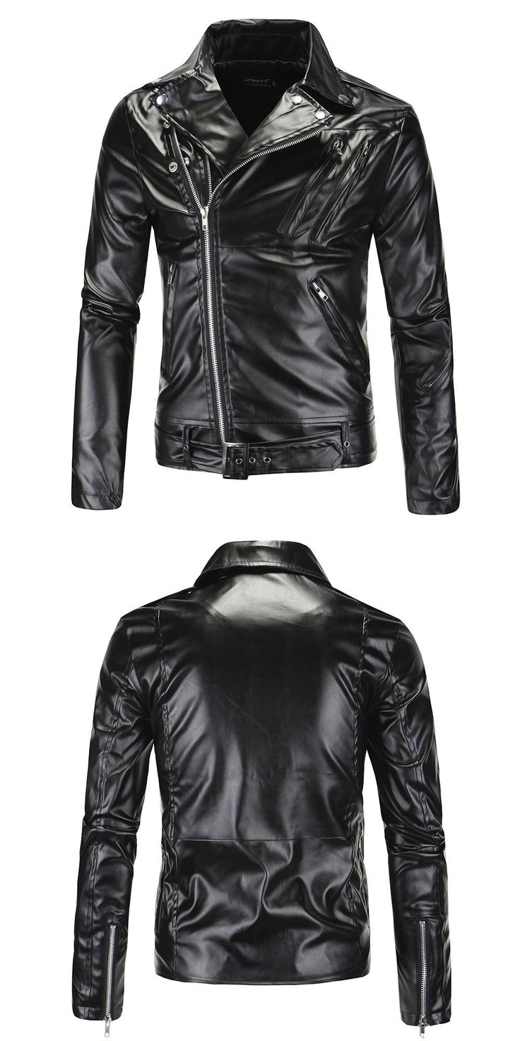 Men Brand Motorcycle Leather Jackets Men Fashion Autumn Winter Jacket Coats Clothing Men Casual Black Biker Leather Coats