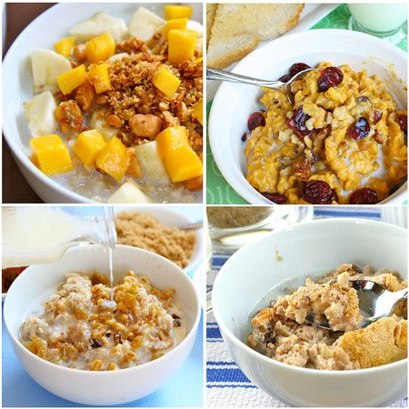 Oatmeal Roundup including Vanilla Oatmeal, Pumpkin Oatmeal, Baked Pumpkin Oatmeal and Irish OatmealIrish (Steel Cut) Oatmeal with a Ginger-Orange Cashew ToppingOatmeal SouffléPumpkin OatmealOatmeal Recipe
