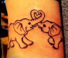bubble elephant finger tattoo - Google Search