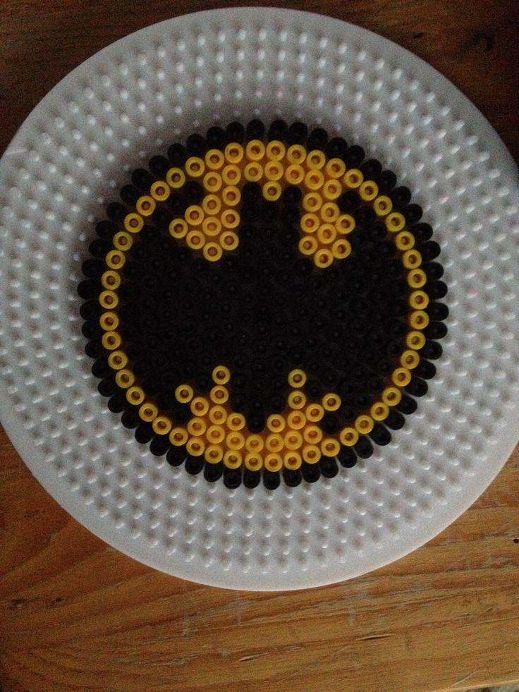 Batman coaster hama perler beads