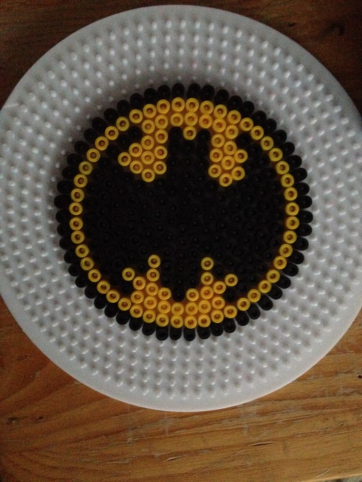 Batman coaster hama perler beads                                                                                                                                                                                 More
