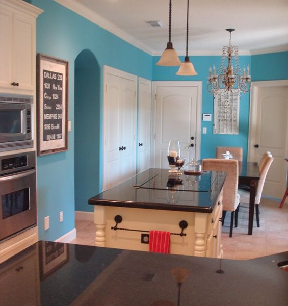 deepest aqua glidden not for kitchen but maybe bathroom