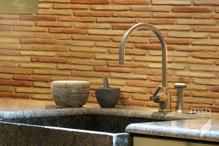 Brick wall kitchen design ideas