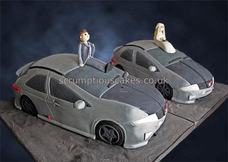 Honda Civic Cars Wedding Cake