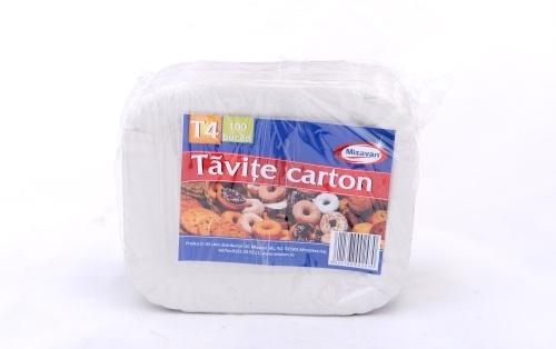 Tavite carton 14*17cm 100/set T4 | Misavan Curatenie