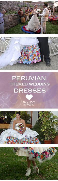 Traditional peruvian wedding dress