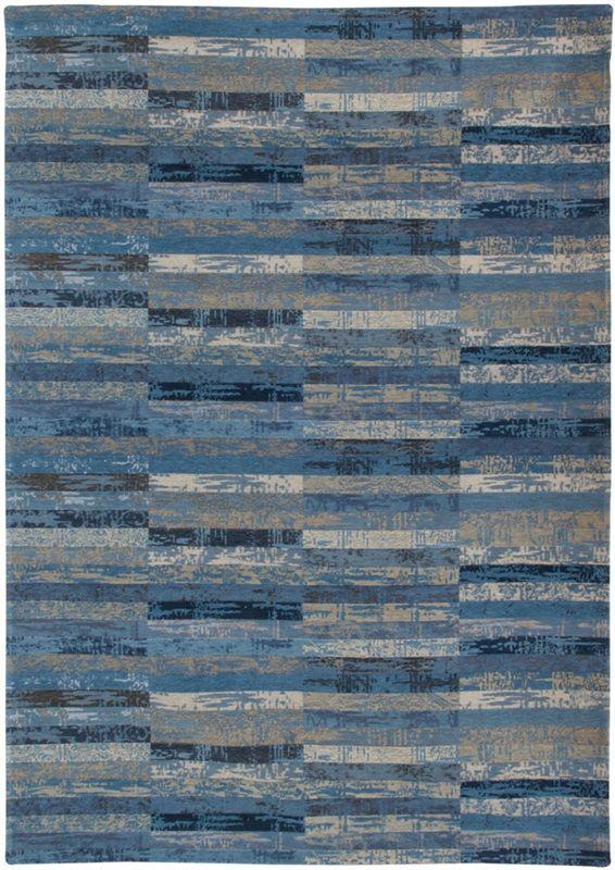 Louis de Poortere Mosaiq 8401 BlueJeans flatdown Blauw
