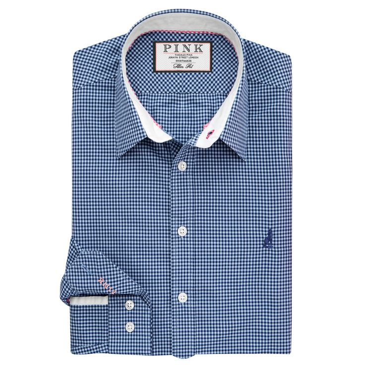 <p>Our casual shirts are for dressing down - weekending, relaxing or holidaying. Each shirt is washed to give it its characteristic soft, worn handle and superior comfort. The Herbie Check <a class=pink  href='/slimfit_shirts/mens/fcp-category/list'>Slim Fit</a> Shirt features a tight gingham, semi cutaway collar, back neck trim and 'Pink' secret stitching on the right button cuff. The Herbie has a relaxed look and feel tha...