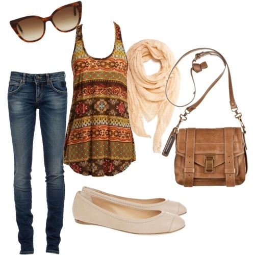 cute: Dreams Closet, Summer Style, Clothing, Cute Outfits, Tanks Tops, Fall Outfits, Shirts Patterns, Jeans And Flats, Bags