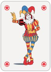 Joker playing card vector art illustration