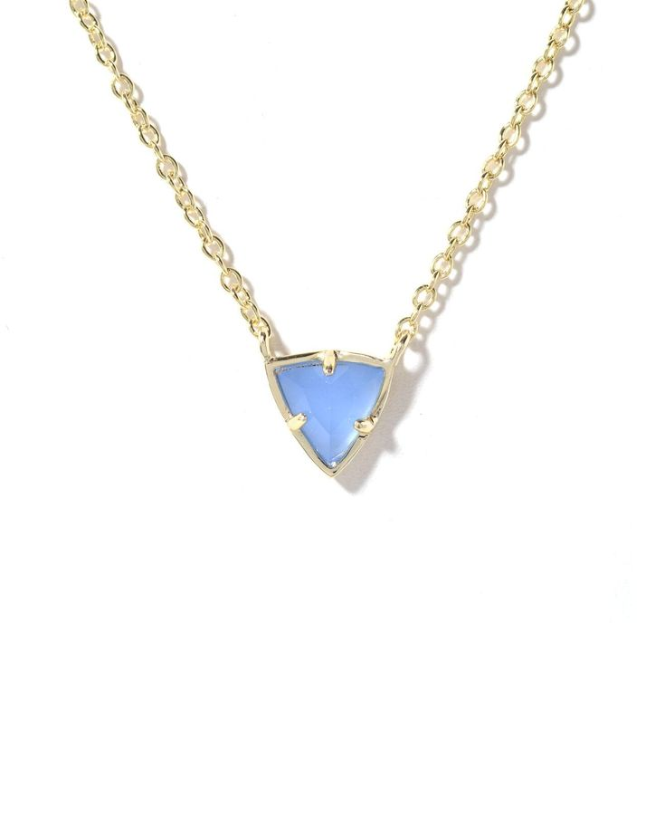 Kendra Scott Perry Triangle Pendant Necklace | South Moon Under i have wanted one for so long and finally went and just splurged! i got this color and style but with a gold chain!