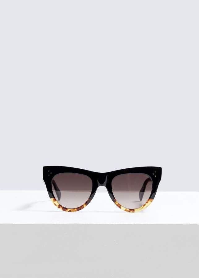 3af7de7f2bdf Square Cat-Eye Sunglasses  lenses gradient Brown