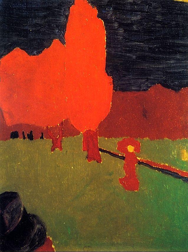 The Bois de Boulogne / Edouard Vuillard - circa 1890