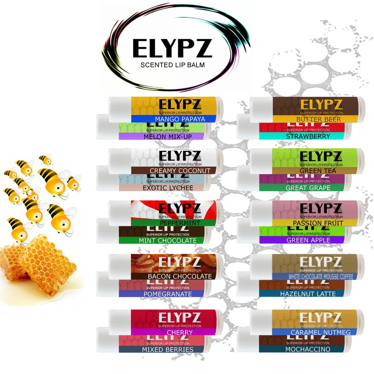 NATURAL Lip Balm Gift Set. 20 FUN and UNIQUES flavors all in one box. Perfect for giveaways and corporate events. Excellent resale value. Find us on Amazon.com. #lipbalm #ELYPZ #lips