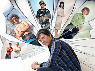 Chris Lilley is the man in the comic mask | The Australian