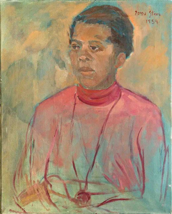 IRMA STERN oil on canvas painting c1954 by TempusGallery on Etsy