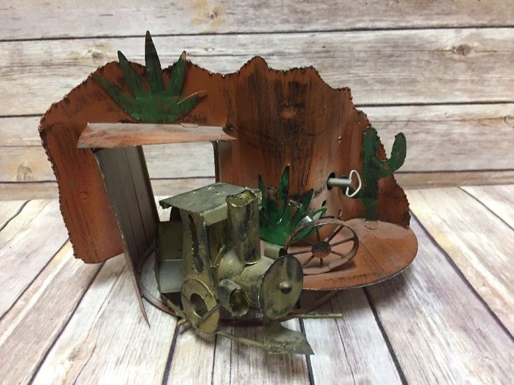 Vintage Train Music Box Copper Decor Art Moves on Track I've Been Working on RR