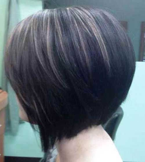 Light Brown Highlighted Dark Bob