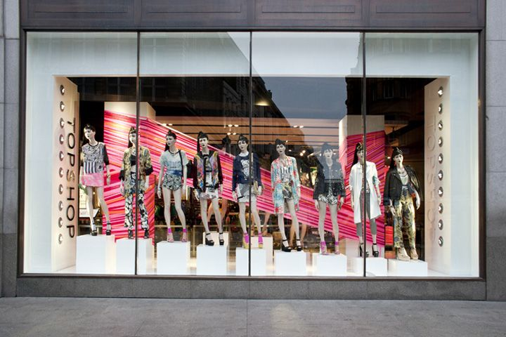 Topshop tape windows by studioXAG London