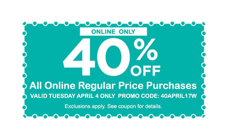 ONLY 4/4 - Get 40% off ALL regular priced purchases at Michael's Craft stores! http://www.anrdoezrs.net/click-8073674-12896716 afflink