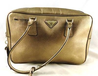Prada Metallic Gold Handbag - w/ certificate of authenticity ...