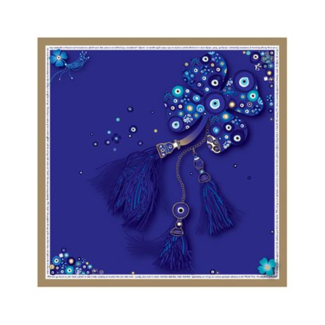 """Evil Eye"" silk scarf by grecian chic, elena zournatzi 90cm x 90cm 100% twill silk"