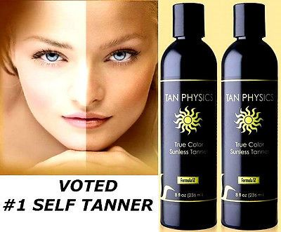 Tanning Lotion: Lot Of 2 Tan Physics True Color Rated #1 Sunless Self Tanner Tanning Lotion BUY IT NOW ONLY: $54.84