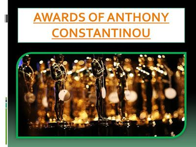 THE TRUTH ABOUT ANTHONY CONSTANTINOU: AWARDS OF ANTHONY CONSTANTINOU